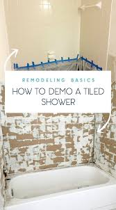 tips on how to remove shower tile duckling house