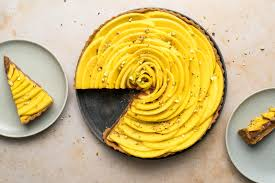 vegane schokoladen mango torte