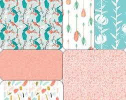 Coral And Mint Baby Bedding by Coral Baby Bedding Etsy