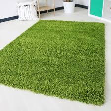 shaggy hochflor teppichläufer grün einfarbig uni m170 80x300