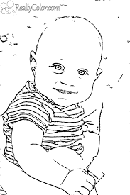 Baby Boy Coloring Pictures Within Pages