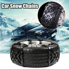Black Anti Skid Car Snow Tyre Tire Chains Beef Tendon Vehicles Wheel ...