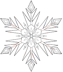 Full Size Of Coloring Pagesnow Flake Drawings Finished Bw Disney Frozen Snowflake Page Large