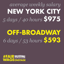 Front Desk Manager Salary Nyc by American Theatre How Fairwageonstage Made Change Off Broadway