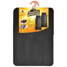 100 Truck Floor Mat Armor All Black Rubber 4Piece78911 The Home Depot