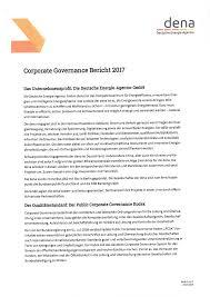 Was Kostet Eine Kã Che Leicht Corporate Governance Bericht 2017