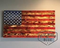 Wooden American Flag Wood Art Rustic