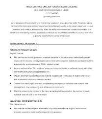 Sample Resume Format For Teachers Of Teacher Teaching