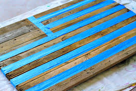 Masking With Tape Reclaimed Wood Pallet Via Liblueboo