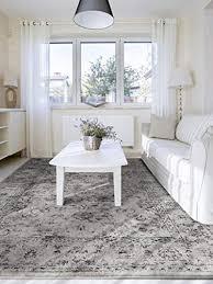benuta vintage teppich im used look velvet grau 140 200 cm moderner teppich für schlafzimmer und wohnzimmer
