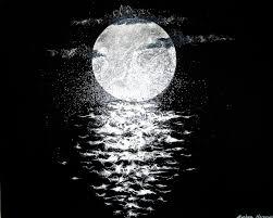 Moon Over Dark Waters Japanese Paper Art