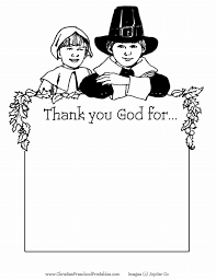 Christian Preschool Printables Thanksgiving Coloring Page
