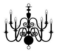 Chandelier Isolated On The White Background