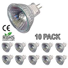 10 pack simba lighting 20 watt mr11 gu4 bi pin halogen bulbs