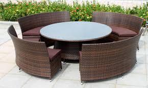 Inspiring Design Ideas Outdoor Wicker Furniture Set Round Dining