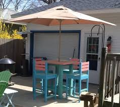 ana white outdoor high top patio set diy projects