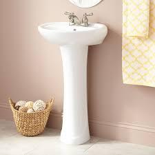Pedestal Sinks For Small Bathrooms by Gretchen Porcelain Pedestal Sink Bathroom
