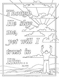 Printable Job 1513 Coloring Page Though He Slay Me