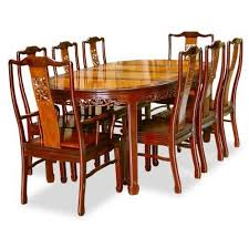 Wooden Dining Table With Eight Chairs