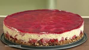 erdbeer frischkäse torte mit vollkornkeksen
