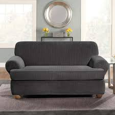 Sure Fit Sure Fit Stretch Pinstripe T Cushion Two Piece Sofa