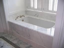 calacatta marble 1 piece tub deck tub skirt