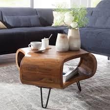 finebuy couchtisch fb51410 sheesham massiv holz 55 x 38 x 55 cm ablage metallgestell retro wohnzimmertisch rechteckig massivholz braun sofatisch