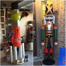 Outdoor Christmas Decorations Ideas On A Budget by Diy Life Size Nutcracker On A Budget Planters Pots Pvc Pipe