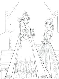 Colouring Pages Image Frozen Elsa Printable Coloring Sheets Queen Free Disney