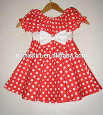 2016 Korean Design Baby Girl Dots Dress Cotton Summer Kids Bowknot Frock