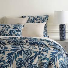 Organic Half Moon Duvet Cover Pillowcases Shimmer Blue SS18