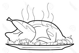chicken food clipart black and white 1024x695