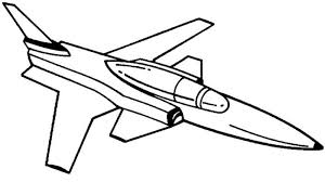 Airplane X 29 Jet Fighter Coloring Page