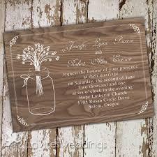 Rustic Mason Jars Love Wedding Invites IWI263