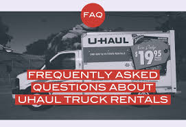 Frequently Asked Questions About U-Haul Truck Rentals