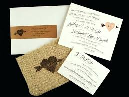 Rustic Wedding Invitation Kits Burlap Invitations How To Make And Lace