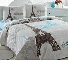 Paris Eiffel Tower Lightweight Summer forter Blanket Bedspreads