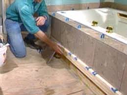 Tiling A Bathtub Deck by How To Install A Marble Floor And Tub Surround How Tos Diy