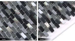 Shell Stone Tile Manufacturers by Mother Of Pearl Shell Mix Slate Stone Strip Glass Black Mosaic