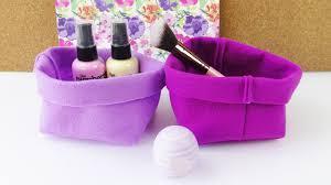 diy aufbewahrung aus stoff einfaches körbchen fürs bad geschenkverpackung selber nähen