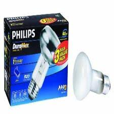 philips 223149 duramax 45 watt r20 indoor flood light bulb 3 pack