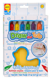 amazon com alex toys rub a dub draw in the tub bath crayons toys