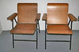 vintage russel wright samsonite plywood folding chairs mid century