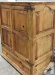 Rustic Western Style Media Center Cabinet TV Armoire