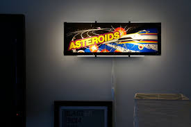Vintage Asteroids Arcade Marquee Wall Light