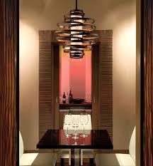 vertigo spiral bronze and gold leaf modern pendant chandelier