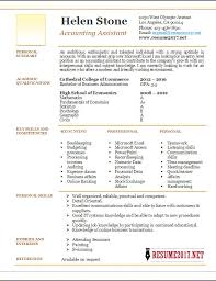 Account Assistant Resume Example 2017