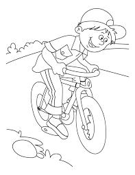 Mountain Bike Coloring Page