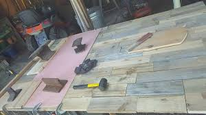Kitchen Table Made From Recalimed Pallet Wood Repurposing Upcycling Woodworking Projects