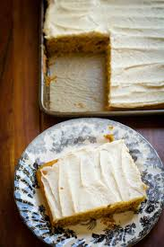 Pumpkin And Cake Mix Dessert by Pumpkin Sheet Cake With Brown Butter Cream Cheese Frosting